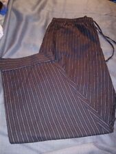 Pajamagram grey flannel stripe pajama loungewear pants size XXL with pockets