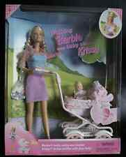 Barbie - Walking Barbie & New Baby Sister krissy Doll - 1999 Mattel