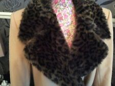 "Marks And Spencer Camel Fur  Coat  Size 14 Length 47"" VGc"