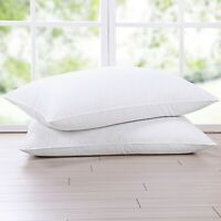 Puredown® Goose Down Blend Bed Pillows for Sleeping, 100% Cotton Fabric Cover