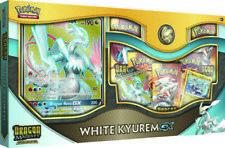 POKEMON Dragon Majesty White Kyurem GX Collection Box 5 Booster Packs + Promo