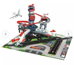 Brand New Boxed Chad Valley Auto Light and Sound Airport Playset Aeroplane Gift