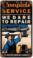 Busted Knuckle Garage Mechanic Repair Metal Sign Man Cave Shop Club Bus092
