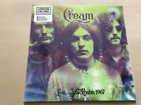 cream live in stockholm 1967 vinyl lp  coloured green ltd rare live show