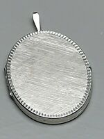 XL großes Art Deco Silber Medaillon 835 punziert, guillochiert 6,3 x 4 cm /A708