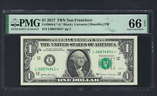 United State -Federal Reserve Note One Dollar 2017 F3004-L (L* Block) Grade 66