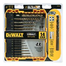 DeWalt DWA1240 Pilot Point Industrial Cobalt Drill Bit 14 Piece Set