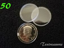 50-T30.6mm AIRTITE/DIRECT FIT COIN CAPSULE for KENNEDY HALF DOLLARS