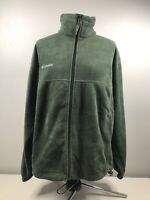 Columbia Men's Fleece Full Zip Up Jacket Coat Adjustable Waist Size: Large Green