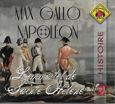 LIVRE AUDIO MP3 / MAX GALLO : NAPOLEON L'IMMORTEL DE SAINTE-HELENE - NEUF