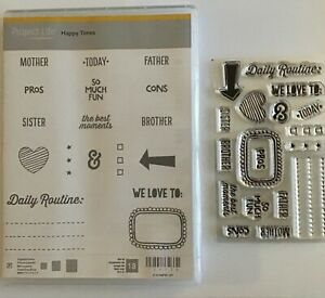 Stampin Up Stamp. Project Life Happy Times. New clear mount