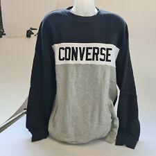 Converse Sweater Pullover Sweatshirt Colorblock Crew Fleece Herren Gr. XXL