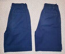 LOT of 2 K-12 Gear School Uniform Boy's Shorts Size 14 Navy Pleated Front