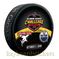 2018 Global Series Challenge Germany Dueling Puck Edmonton Oilers vs Kolner Haie