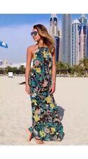 Zara Floral Halter Neck Maxi Dress Size M UK 10 BNWT