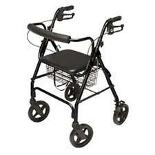 Lumex Walkabout Lite Four Wheel Rollator - Black