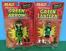 DC MAD MAGAZINE Alfred E Neuman GREEN ARROW & GREEN LANTERN (2) Figure LOT MIB