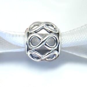 INFINITE SHINE- Infinity- Eternity-Solid 925 sterling silver European charm bead