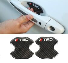 2PCS TRD Carbon Fiber Anti Scratch Badge Door Handle Bowl Cover Trim