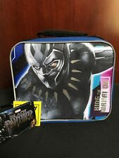 Rectangular Marvel Black Panther Lunch Bag With Reflective Strips