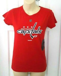 Washington Capitals Girls  T Shirt Size XL 16 Red Reebok NHL Hockey New