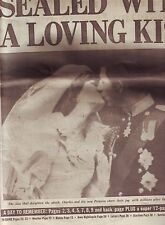 ROYAL WEDDING CHARLES & DIANA WEDDING DAILY EXPRESS 30 JULY 1981 VGC