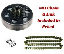 "#40 Chain 4 Ft w/ Masterlink, 10T Clutch 3/4"" Bore Go Kart Minibike Parts Kit"