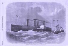1870 CHANNEL RAILWAY FERRY PROPOSED STEAMBOAT TO CONVEY TRAINS