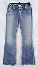 BKE 29 X 37.5 Long The Buckle Star Stretch Distressed Thick Stitch Boot Jeans