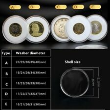 10 Coin Capsule Case with Adjustable Ring For 17-41mm Cent Penny PENNIES Quarter