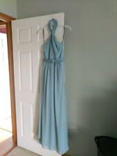 "NWT $199.95 White by Vera Wang bridesmaid dress sz 6 ""Mist"""