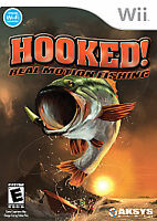 Hooked Real Motion Fishing (Nintendo Wii, 2007) Complete/Tested - Free Shipping