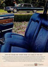 1965 Cadillac PRINT AD Fleetwood 4-door Black/Blue Interior View