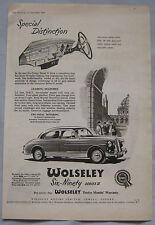 1956 WOLSELEY SIX-NOVANTA SERIE II ORIGINALE annuncio No.1