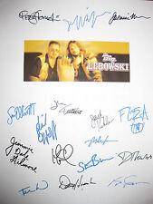 The Big Lebowski Signed Movie Script X16 Jeff Bridges Philip Seymour Hoffman rpt