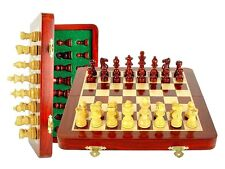 """10"""" Wooden Chess Set Travel Magnetic Folding Bloodwood - House of Chess"""