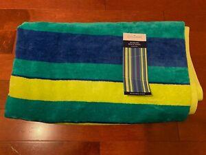 "Colormate Multicolor Striped Jacquard Beach Towel, 40""x70"""