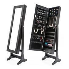La Bella Lowe Mirror Jewellery Cabinet with 2 Drawer  - Black
