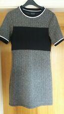 TOPSHOP  Ladies On Trend Black White Grey  T Shirt Dress SIZE 8