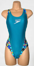 Speedo Ladies Coolmax Trisuit Swimsuit Triathlon UK Small (6-8) Green Teal 4476