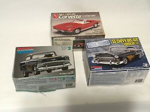 LOT OF 3 MODEL CARS (As is kits) Opened but not assembled