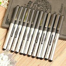 12pcs Black 0.5mm Signing Roller Ball Ballpoint Pen Gel Liquid Ink Stationery #J