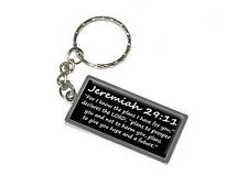 Jeremiah 29-11 For I know the plans I have for you Christian Keychain