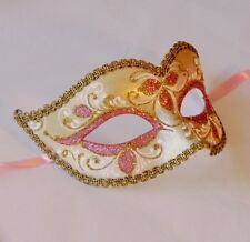 Pink Masquerade Mask - OVERNIGHT Most Metro - MADE IN ITALY - Anna Pink Gold