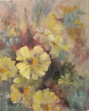 Original Oil Painting Flowers Daisy Floral & Gardens Impressionism 11x14 Haigh