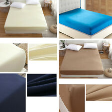 Fitted Sheet 25cm Extra Deep 100% Poly Cotton 200TC Double King Siz Bed Sheets