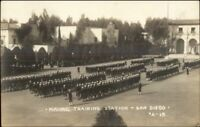 San Diego Co CA Naval Training Station Camp Kearny? c1915 Real Photo Postcard