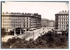 Oscar Kramer, Österreich, Wien, Pont Elisabeth  vintage albumen print Tirage a