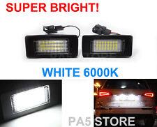2x AUDI LED License Number Plate Bulbs 12v White TT A4 B8 A5 S5 Q5 VW Passat R36