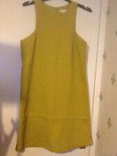 Cotton Blend Boat Neck Petite Sleeveless Dresses for Women